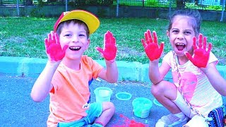 Finger Paint Color Song I Children Songs with Color