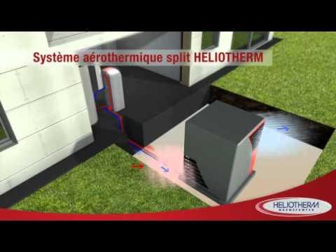 pompe chaleur a rothermique split air eau youtube. Black Bedroom Furniture Sets. Home Design Ideas