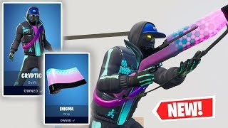 NEW CRYPTIC SKIN AND ENIGMA WRAP Gameplay in Fortnite!