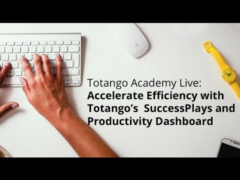 Accelerate efficiency with Totango's SuccessPlays and Productivity Dashboard