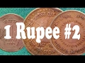 Rare Indian Coins, 1 Rupee,1985,H,1991,*,1975,1990,1942,1992,1944,1991, Commemorative Coins
