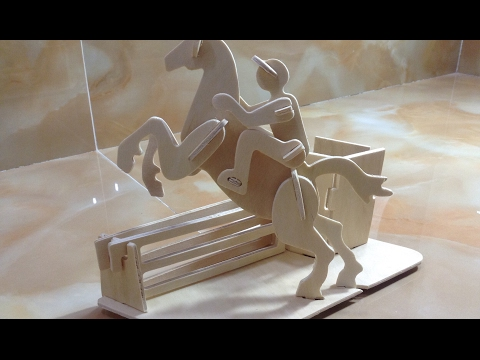 DIY Miniature Horse Riding Pen Container ~ 3D Wood Craft Construction Kit