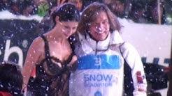 Micaela Schäfer & Jürgen Drews beim Snow Mobile Saalbach Hinterglemm