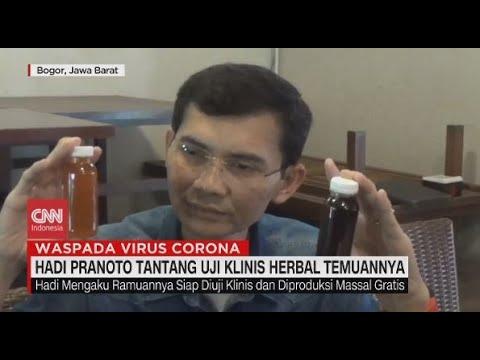 Hadi Pranoto Tantang Uji Klinis Obat Corona Temuannya