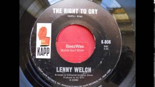 lenny welch - the right to cry
