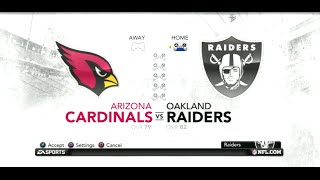 PS3 Gameplay: Madden NFL 12 (Pre-Season 1) [Raiders vs Cardinals]