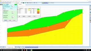 Stabilizzazione di un pendio in frana con l'ausilio interventi.e' stato utilizzato il software stap full 12 (stabilità pendii terreni e rocce)