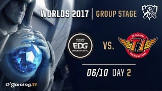 EDward Gaming  vs SKT T1 - World Championship 2017 - Group Stage - Day 2 - League of Legends