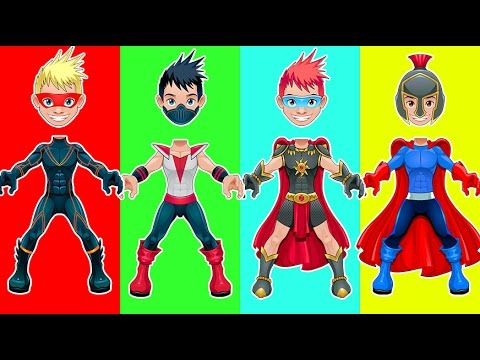 Thumbnail: Wrong Heads Superheroes Roman Warrior Finger Family Song Nursery Rhymes