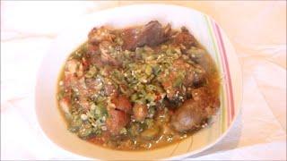 How to make Nigerian okro pepper soup