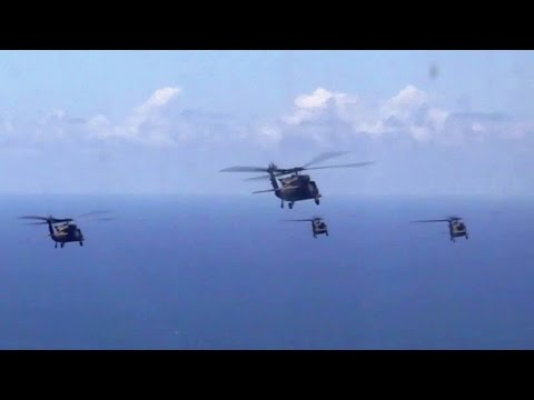 UH-60 Black Hawks Formation Flight
