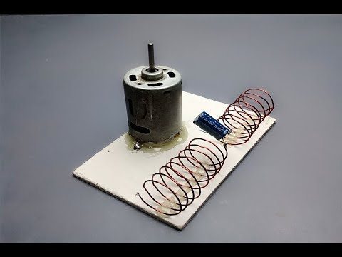 free energy generator device with magnet & dc motor _ science experiment at home 2019