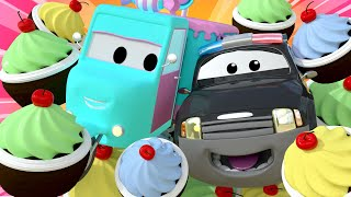The Muffin Man ! Nursery Rhymes Songs for Children with Trucks of Car City