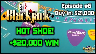 BLACKJACK EPISODE #6 $21K BUY-IN MASSIVE WINNING SESSION $500 - $1700 Per Hand Gretchen Brings Luck Check Out Live Slot, Slot Machine Bonus, ...