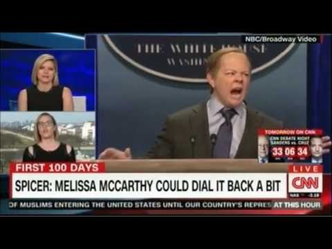 Thumbnail: Sean Spicer given the Saturday Night Live treatment by Melissa McCarthy hilarious