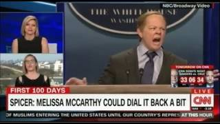 Sean Spicer given the Saturday Night Live treatment by Melissa McCarthy hilarious