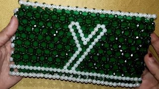 How To Make Crystal Beaded Purse | Beaded Bags And Purses | Beads Purse Making Tutorial