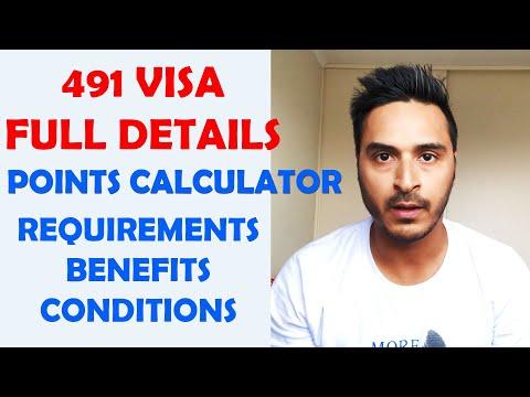491 SUBCLASS FULL DETAILS II REQUIREMENTS II CONDITIONS II BENEFITS II POINTS