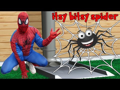 Itsy Bitsy Spider Song for Kids Nursery Rhyme Crying Babies Superheroes Spiderman