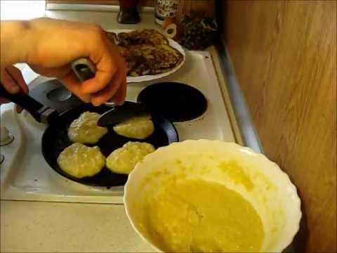 Как приготовить оладьи из кукурузной крупы .