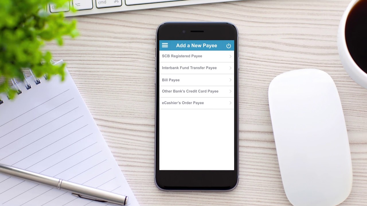SG Mobile Banking app - Add payee