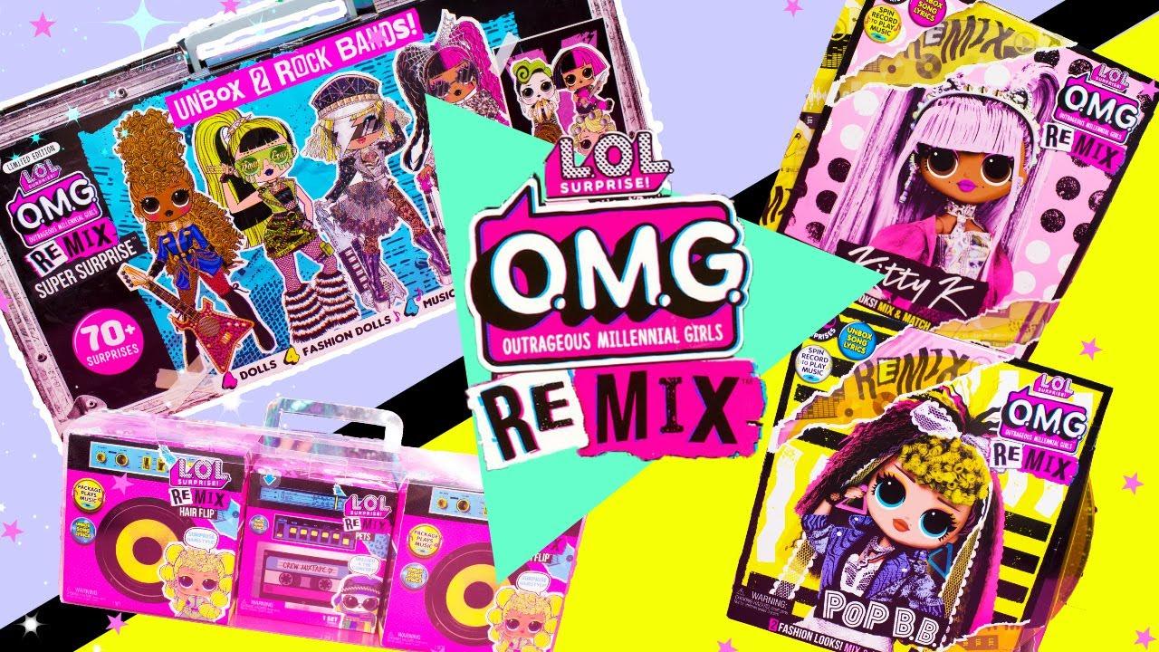 LOL Surprise REMIX OMG Super Surprise NEW OMG Dolls LOL Hair Flips HUGE UNBOXING! #1