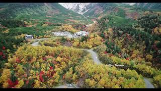 ドローンで見る北海道の紅葉 北海道十勝岳温泉郷の絶景 2020