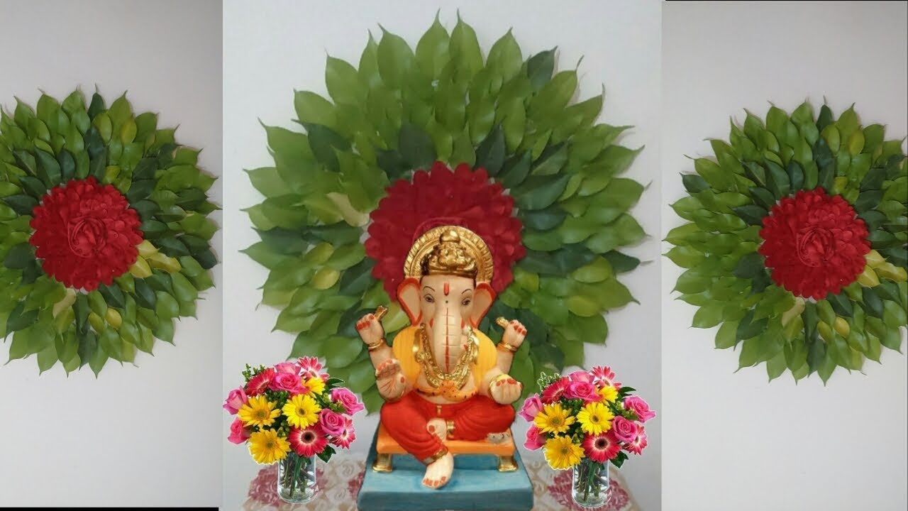 Ganpati Decoration Ideas For Home Eco Friendly Simple 2018