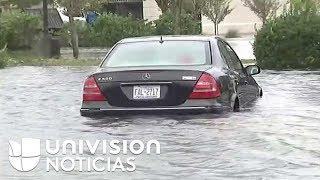 Así se ven las inundaciones en Wilmington, Carolina del Norte.