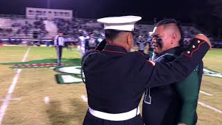 Marine Surprises his Younger Brother senior night at football game thumbnail
