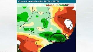 Alerta para muita chuva no RJ e Zona da Mata Mineira
