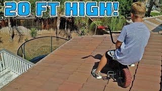ROCKER MINI BMX ROOF JUMPING WITH CRAZY 8 YEAR OLD
