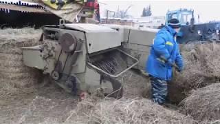 перекиповка сена зимой fortschritt к454