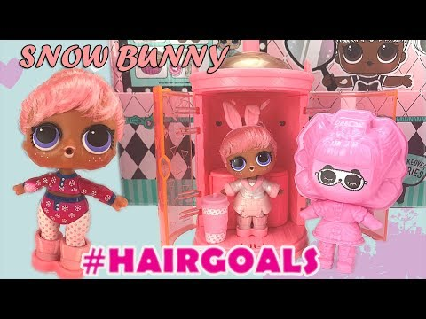 LOL Surprise HAIRGOALS Makeover Series 5 Unboxing Ball Placement & Weight Hack SNOW BUNNY