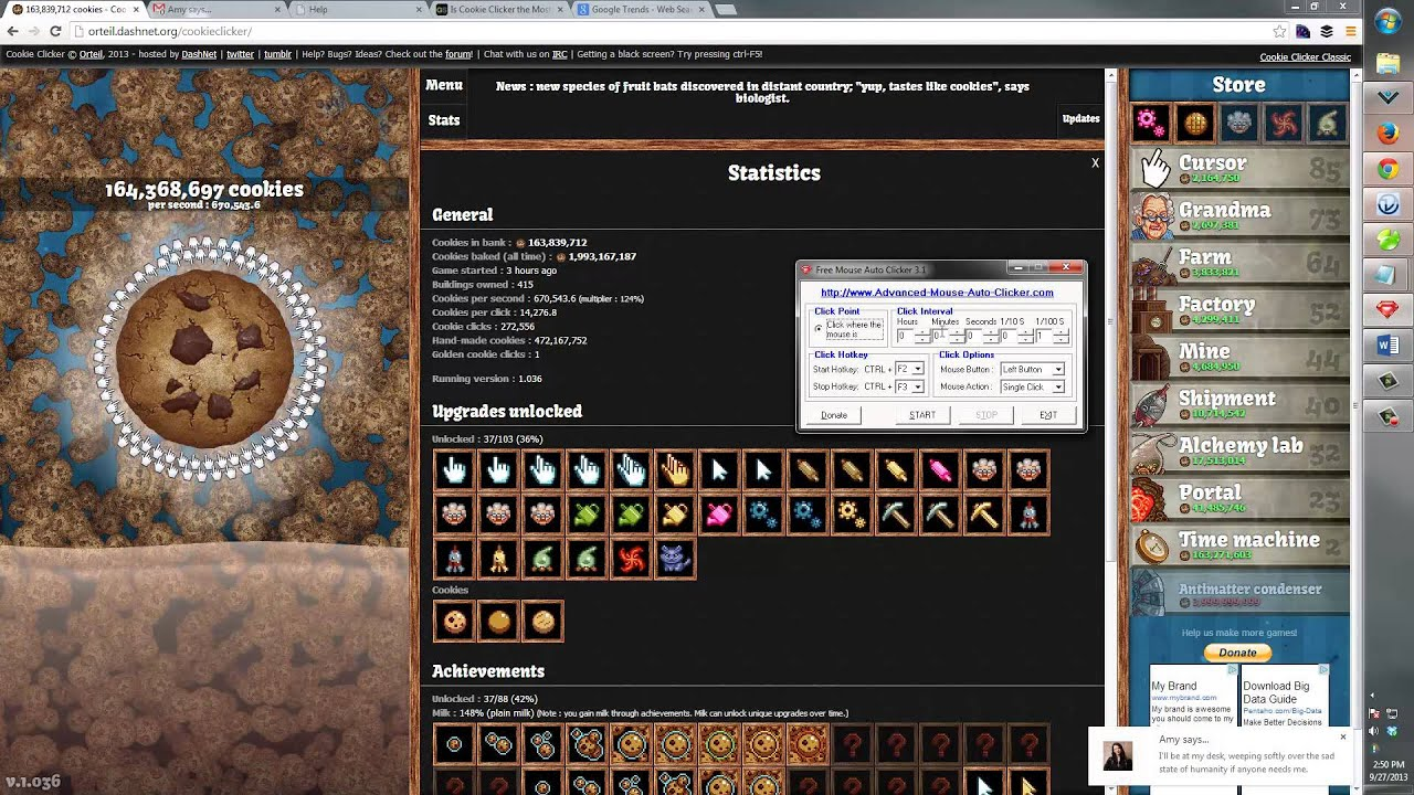 Cheating Cookie Clicker Constantly   Cookie Clicker