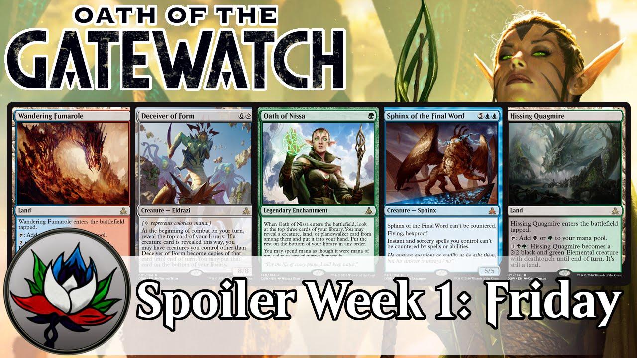 Oath of the Gatewatch Spoilers: Oath of Nissa, Wandering Fumarole ...