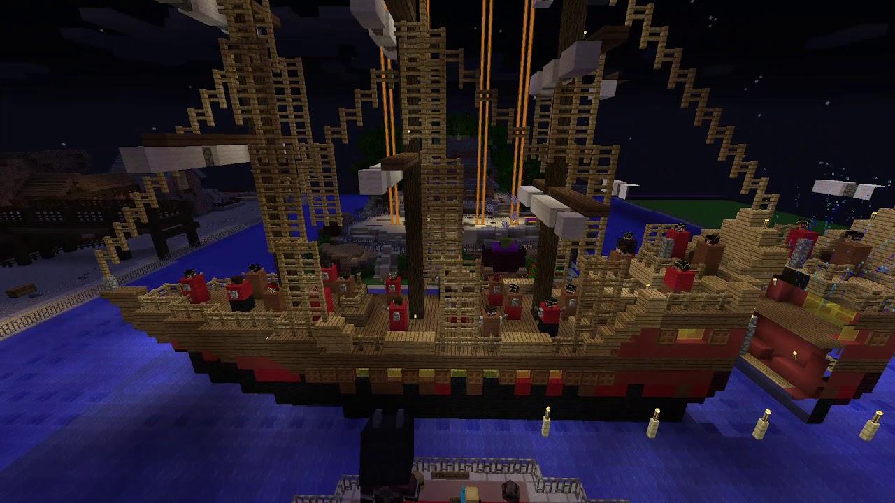 Minecraft Cosmic Craft Server: Disney land Fantasmic show
