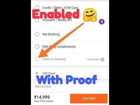 Flipkart cash on delivery glitch NAYA😍    Enable 🤗   phones #flipkart #asus #hacks #tipsandtricks