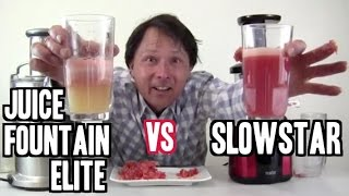 Breville Juice Fountain Elite vs Slowstar Juicer Review: Fresh Tomato Paste Recipe