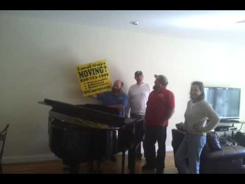 ASHEVILLE MOVING COMPANY MOVE A GRAND PIANO in North Carolina