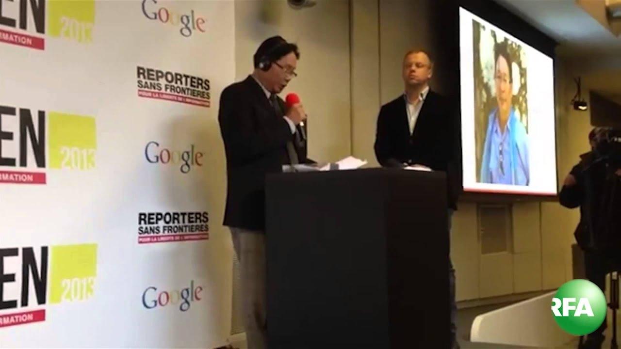 Tường thuật trực tiếp lễ trao giải Công dân mạng cho Blogger Huỳnh Ngọc Chênh