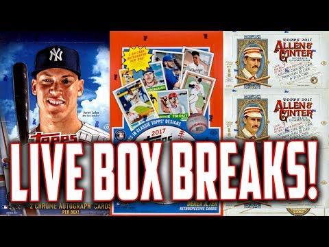 SUNDAY NIGHT BREAKS! 2017 Topps Chrome, Allen & Ginter, Topps Archives Baseball