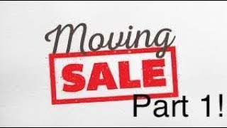 Moving Sale - Part 1! Football, Baseball, and Basketball.