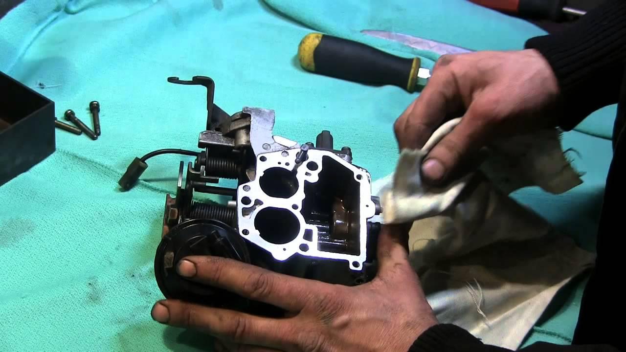 Работа воздушной заслонки карбюратора 2EE - YouTube