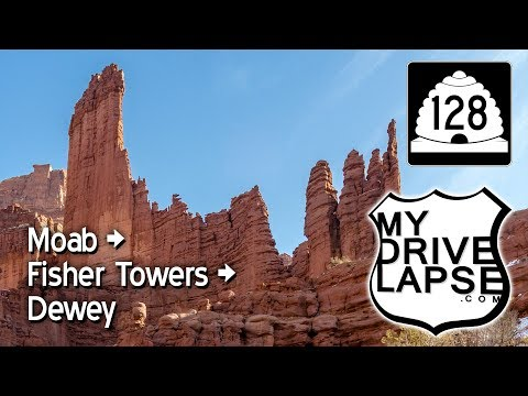 Utah's Scenic Route 128 to Fisher Towers, Castle Valley