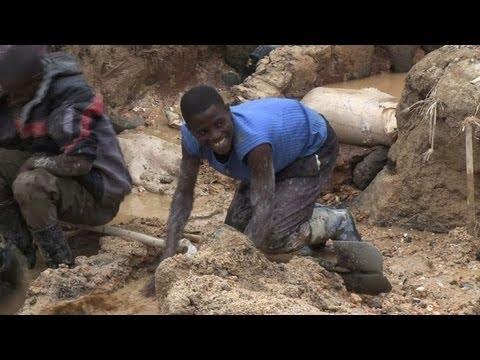 Niños en las minas de RDCongo