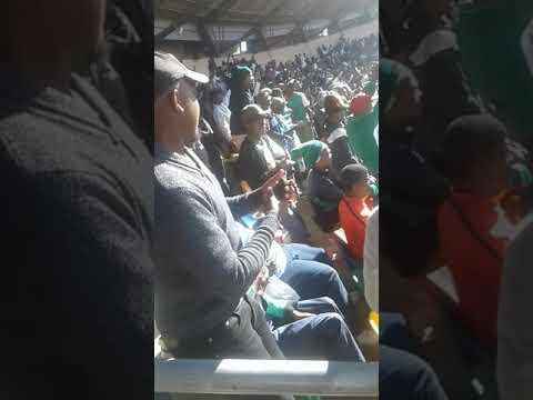 Siwelele Supporters singing for Steve  Khomphela