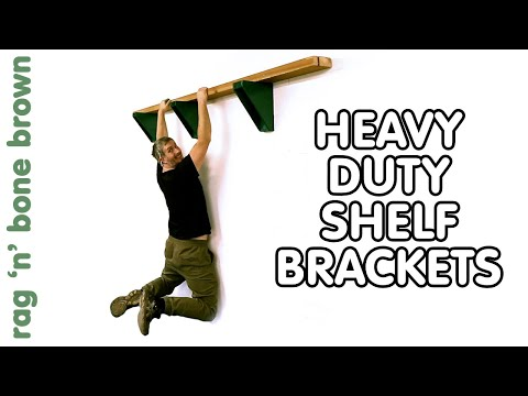 How To Make Heavy Duty Brackets - Great For Wood/Timber Storage