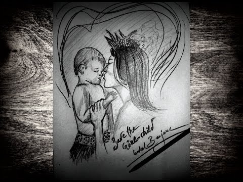 Save the Girl Child - Time Lapse Sketch - YouTube