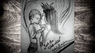 Save the Girl Child - Time Lapse Sketch